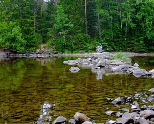 Brompton Tour Skandinavien / Ein Brompton in freier Wildbahn