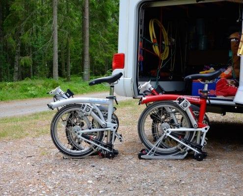 Brompton Tour Skandinavien / Bromptons im Wohnmobil