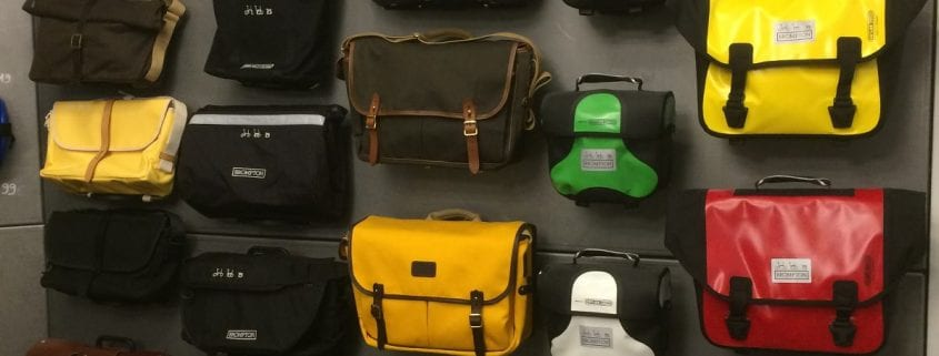 Die neuen Brompton Taschen sind im Laden
