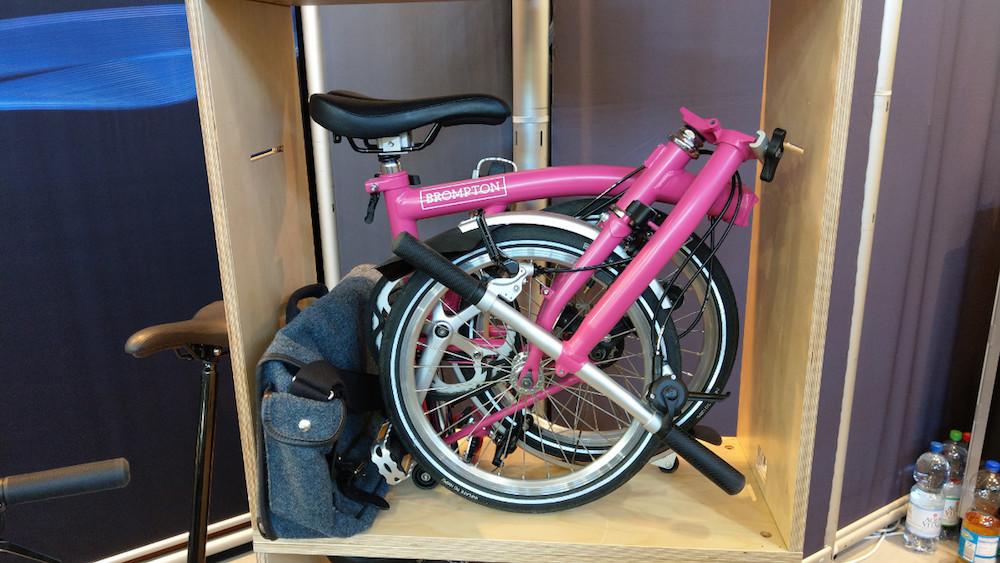 Boxbike Faltrad Shop Eurobike 2018 Brompton Hot Pink
